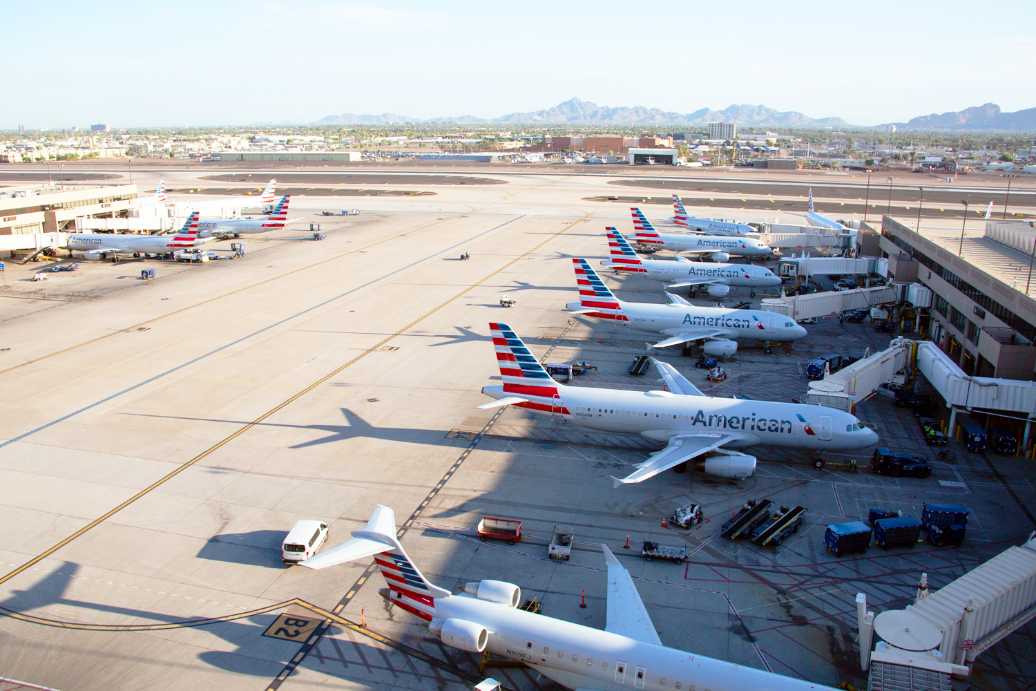 American Airlines at PHX